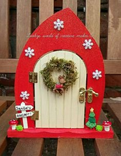 A christmas fairy door  https://m.facebook.com/loobysworld/