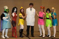 The Powerpuff Girls Cosplay... um pretty sure most if this girls are guys.