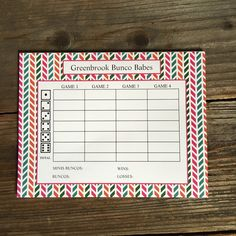 Order personalized bunco sheets for your next game night. Comes in a pad of 8.5x11, 40 sheets of paper. A personal favorite from my Etsy shop https://www.etsy.com/listing/285836253/custom-bunco-player-sheet-40-sheets #bunco #girlsnight #gamenight