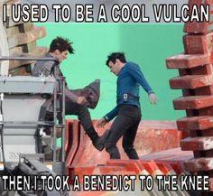 A Benedict to the knee..... /a benedict to the knee/......... ADJASKIAGAF OMG IM LAUGHING SO HARD I DONT EVEN KNOW WHY ASJAKEHANDOWOEANBAKANK