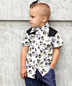 Amazon.com: Knuckleheads, Rockabilly Plaid Skulls Button Shirt ~: Clothing