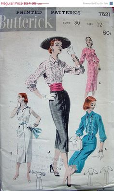 1950s Butterick Dress Pattern