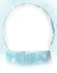 Christmas Ecards for Free: Happy Holidays Snow Globe by Group Card