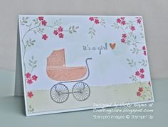 Stampin' Up ideas and supplies from Vicky at Crafting Clare's Paper Moments: Hearts and flowers and Something for Baby from Sta...