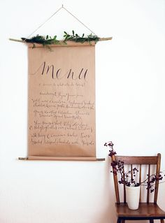 Decorate For A Party Book - DIY Menu Sign Wedding Party