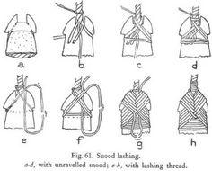 Different style snood lashing for bone pendants