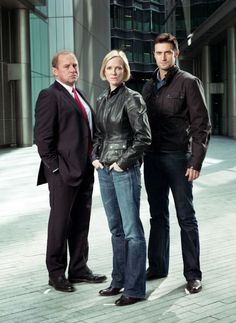 Peter Firth as Harry Pearce, Hermione Norris as Ros Myers & Richard Armitage as Lucas North - Spooks (BBC)