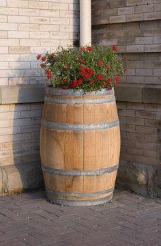 Usar una barricas como florero