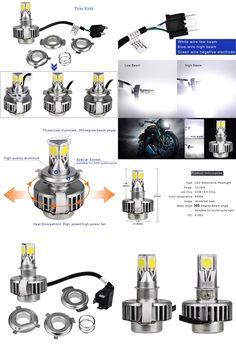 [Visit to Buy] 2017 H6 H4 Led Motorcycle Headlight Bulb Lamp h4 Ba20d High Low Led Motorbike Headlight Bulbs Hi Lo Beam Headlamp Moto DC 12V #Advertisement