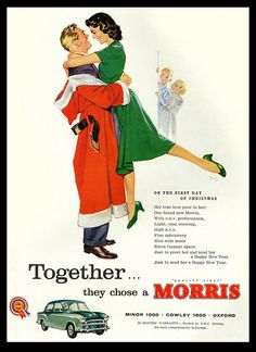 On The First Day of Christmas... 1959 Morris ad