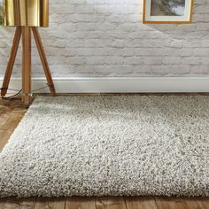 Modern Thick Fluffy Ivory Cream Shaggy Rugs Non Shed Soft Area Living Room Rug