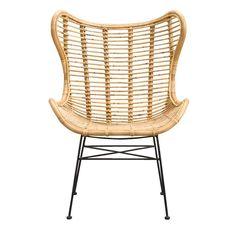 Fauteuil Jasmine is gemaakt van rotan en metaal en heeft de kleur naturel. Verkrijgbaar bij Leen Bakker! Outdoor Chairs, Outdoor Furniture, Outdoor Decor, Rattan Chairs, Egg Chair, Kidsroom, Home Living Room, Wicker, New Homes