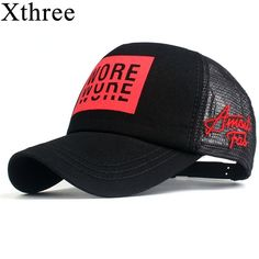 dbd0505aab3 Xthree Men s Baseball Cap Print Summer Mesh Cap Hats For Men Women Snapback  Gorras Hombre hats Casual Hip Hop Caps Dad Hat