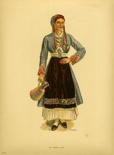 Φορεσιά Σουφλίου. Costume from Soufli. Collection Peloponnesian Folklore Foundation, Nafplion. All rights reserved. Greek Traditional Dress, African Traditional Dresses, Traditional Outfits, Greek Dress, Emo Dresses, Party Dresses, Fashion Dresses, Costumes Around The World, Ethnic Fashion