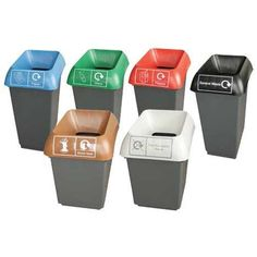 Color Code Trash and Recycling Bins