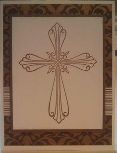 Religious card set I'm making for church auction, elegant, monochromatic, CAS