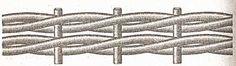 Плетение веревочкой в три соломины