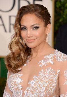 Jennifer Lopez Side Parted Long Hairstyle 2013 - 2013 Red Carpet Hairstyles