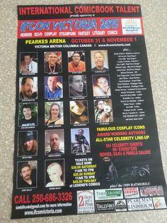 Victoria British Columbia, Lineup, All Star, Steampunk, Horror, Sci Fi, My Arts, Comic Books, Author