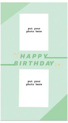 Creative Instagram Photo Ideas, Instagram Photo Editing, Instagram Story Ideas, Instagram And Snapchat, Instagram Blog, Happy Birthday Posters, Happy Birthday Frame, Birthday Posts, Birthday Collage