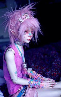 kawaii and pastel kép Anime Dolls, Ooak Dolls, Blythe Dolls, Pretty Dolls, Beautiful Dolls, Mode Kawaii, Kawaii Doll, Barbie, Doll Repaint