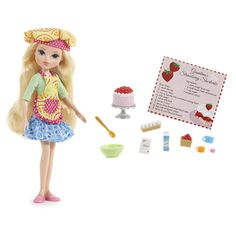 Whether it's painting, cooking or just using their imaginations, Moxie Girlz™ love to get creative! Avery™ is ready for baking in her fashionable chef's hat and apron.  Doll & baking set includes 10+  accessories including a scented strawberry short cake recipe card for real baking fun. Bonus! Doll can really sit and stand on her own, no doll stand required!