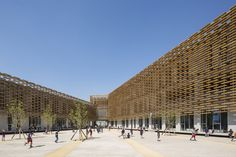 Image 1 of 28 from gallery of The French International School of Beijing / Jacques Ferrier Architecture. Photograph by Luc Boegly