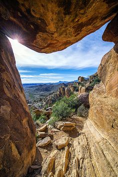 The window at Balanced Rock, Grapevine Hills, Big Bend National Park, Texas.