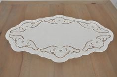 Richelieu handmade embroidery table runner by RichelieuArt on Etsy