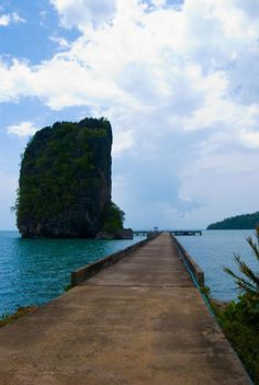 Ao Pante Pier at the Ko Tarutao Marine Park in Southern Thailand