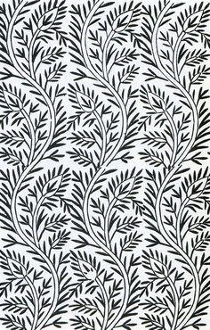 Indian cotton print design, 19th century. (The Textile Blog)