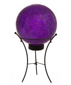 Look what I found on #zulily! Purple Mosaic Solar Gazing Ball Set #zulilyfinds