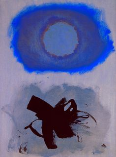 "Blues, 1962, Adolph Gottlieb (1903-1974) was an American abstract expressionist painter, sculptor and printmaker & was one of the ""first generation"" of Abstract Expressionists. Gottlieb was a masterful colorist as well and in the Burst series his use of color is particularly crucial. He is considered one of the first color field painters and is one of the forerunners of Lyrical Abstraction. Gottlieb's career was marked by the evolution of space and universality."