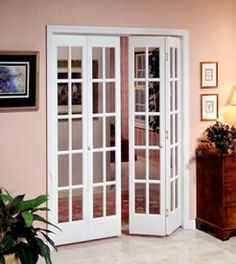 The Classic French Glass LTL Home Products (available at Lowe's and Home Depot) For Breakfast Room (28-inch single bi-fold door) $487.90 Install: $145.00 24-inch passage