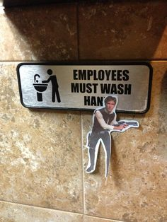 Found this in the bathroom (star wars) - Imgur