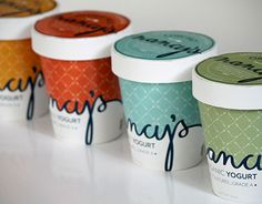 Packaging redesign for Nancy's yogurt.