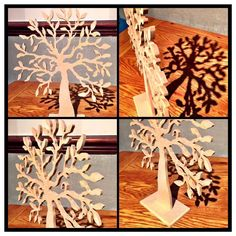 Tree Family - 3 sizes available -  Small - 18cm tall x 20cm wide Medium with stand - 30cm tall x 25cm wide Large - 50cm tall x 40cm wide All 6mm thickness