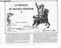 A  Wagram review  from 1978 introducing the scope aand scale of the Napoleonic battle. In these days counters were pink,blue and maybe grey.