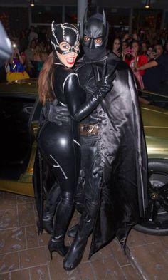 original Catwoman costume. See more. Kim Kardashian and Kanye West 2012 Batman and Catwoman & original Catwoman costume | The Batman | Pinterest | Original ...