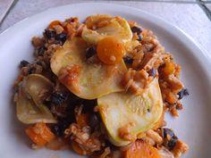 Tasty Tuesday - Teriyaki Heirloom Patty Pan with Beans and Rice