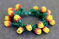 Yellow-Rose-Bracelet by YarnJourney, via Flickr