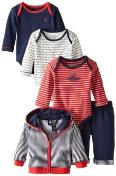 ff5aed34caa6d6 Newborn Baby Boys Infant Outfits Gift Set Navy Newborn Baby Boy Gifts