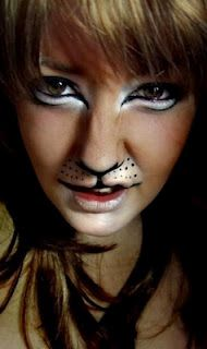 lion makeup, not quite the effect I'm looking for, but close