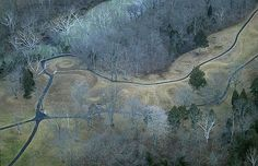 Serpent Mound in Winter  Adams County, Ohio, OH - AirPhoto