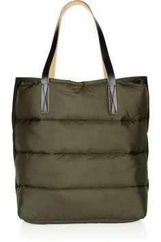 Marni|Quilted nylon and felt shopper tote|NET-A-PORTER.COM