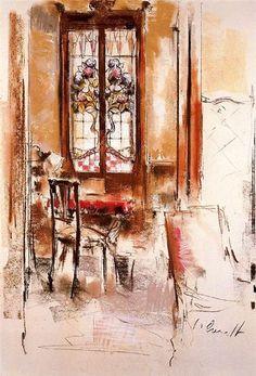 Jaume Queralt, Estudio de vidrieras, 1987