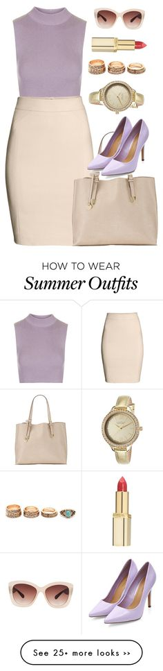 """Pastel work outfit !"" by azzra on Polyvore"