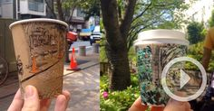 A video posted by Adrian Hogan (@adehogan) on Apr 24, 2015 at 11:19pm PDT Tokyo-based illustrator Adrian Hogan created a fun series of sketches last April where he drew panoramic views of streets and sidewalks around the outside of his coffee cups. In these brief videos he then slowly r