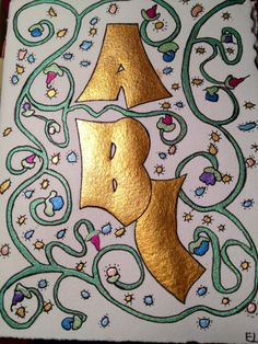 ABC Decorated Envelopes, Typography, Lettering, Illuminated Letters, Love Letters, Book Art, Kids Rugs, Calligraphy, Ink