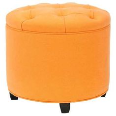 Odell Tufted Ottoman Tangerine now featured on Fab.